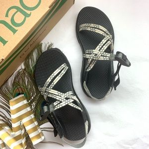 *Chacos - ZX/1 White & Gray Adjustable Sandals*